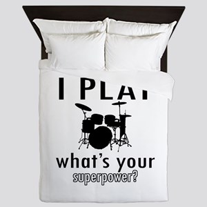 Cool Drums Designs Queen Duvet