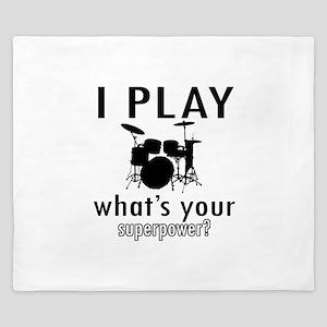 Cool Drums Designs King Duvet
