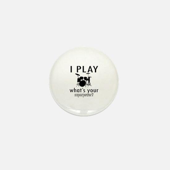 Cool Drums Designs Mini Button
