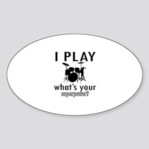 Cool Drums Designs Sticker (Oval)