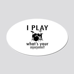 Cool Drums Designs 20x12 Oval Wall Decal