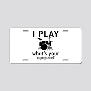 Cool Drums Designs Aluminum License Plate
