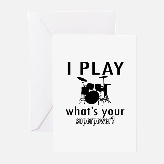 Cool Drums Designs Greeting Cards (Pk of 10)