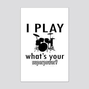 Cool Drums Designs Mini Poster Print