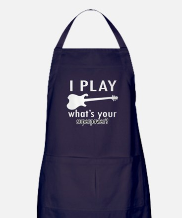 Cool Electric Guitar Designs Apron (dark)