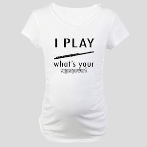 Cool Flute Designs Maternity T-Shirt