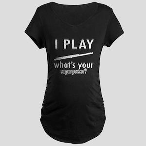 Cool Flute Designs Maternity Dark T-Shirt