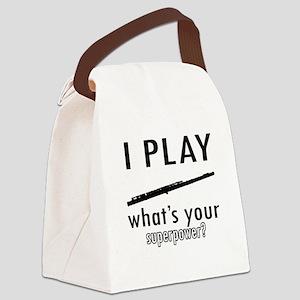 Cool Flute Designs Canvas Lunch Bag