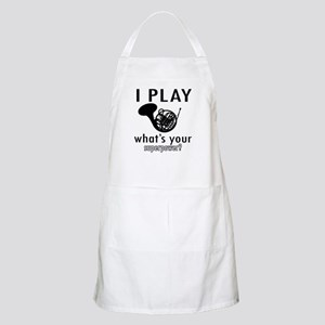 Cool French Horn Designs Apron