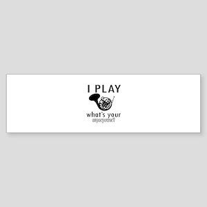 Cool French Horn Designs Sticker (Bumper)