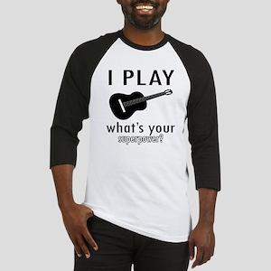 Cool Guitar Designs Baseball Jersey