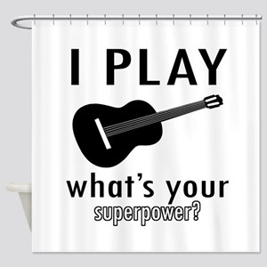 Cool Guitar Designs Shower Curtain
