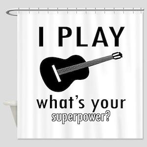Cool Guitar Designs Shower Curtain