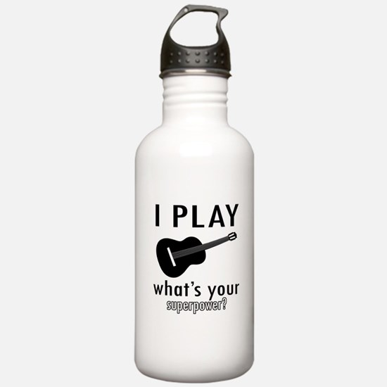 Cool Guitar Designs Water Bottle