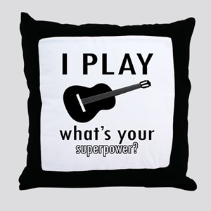 Cool Guitar Designs Throw Pillow