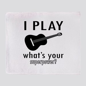 Cool Guitar Designs Throw Blanket