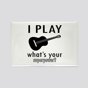 Cool Guitar Designs Rectangle Magnet