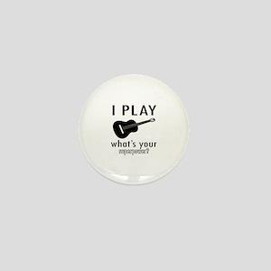 Cool Guitar Designs Mini Button