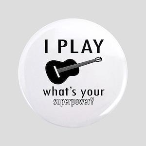 "Cool Guitar Designs 3.5"" Button"