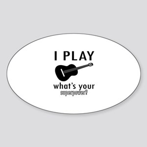 Cool Guitar Designs Sticker (Oval)