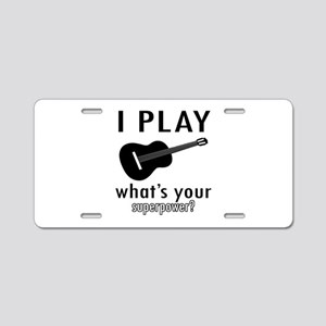 Cool Guitar Designs Aluminum License Plate