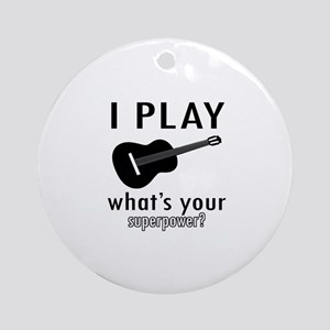 Cool Guitar Designs Ornament (Round)