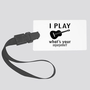 Cool Guitar Designs Large Luggage Tag