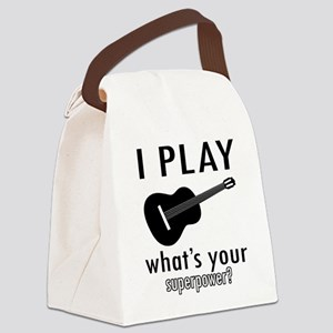 Cool Guitar Designs Canvas Lunch Bag