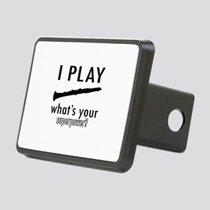 Cool Oboe Designs Rectangular Hitch Cover