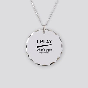 Cool Oboe Designs Necklace Circle Charm