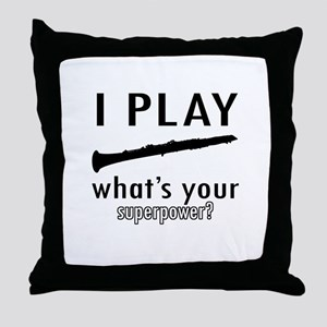 Cool Oboe Designs Throw Pillow