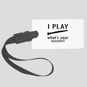 Cool Oboe Designs Large Luggage Tag