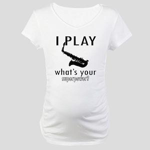 Cool Saxophone Designs Maternity T-Shirt