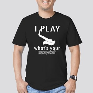 Cool Saxophone Designs Men's Fitted T-Shirt (dark)