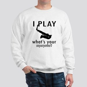 Cool Saxophone Designs Sweatshirt