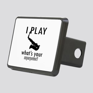 Cool Saxophone Designs Rectangular Hitch Cover