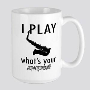 Cool Saxophone Designs Large Mug