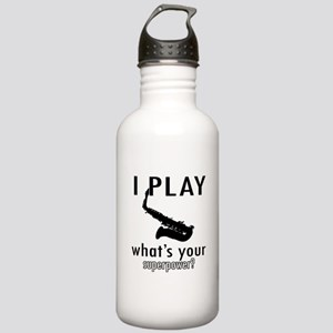 Cool Saxophone Designs Stainless Water Bottle 1.0L