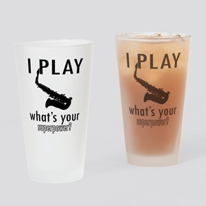 Cool Saxophone Designs Drinking Glass