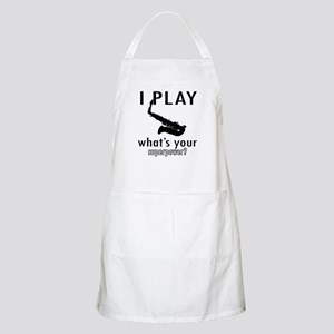 Cool Saxophone Designs Apron