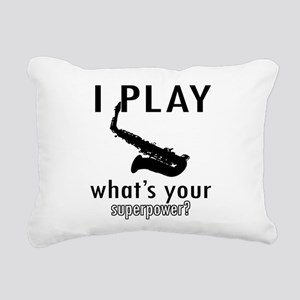 Cool Saxophone Designs Rectangular Canvas Pillow