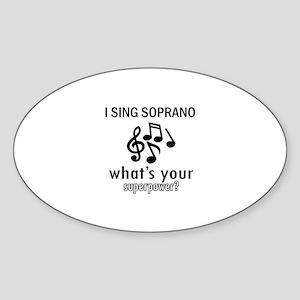 Cool Soprano Designs Sticker (Oval)