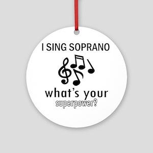 Cool Soprano Designs Ornament (Round)