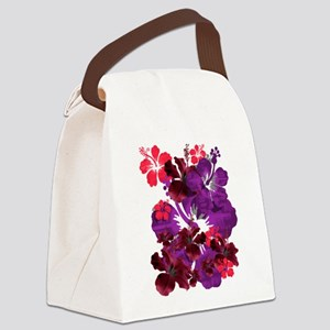 Hibiscus Canvas Lunch Bag