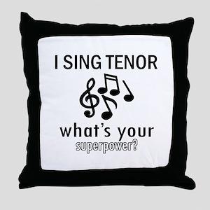 Cool Tenor Designs Throw Pillow