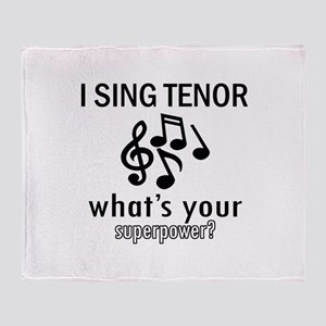 Cool Tenor Designs Throw Blanket