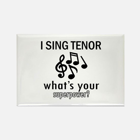 Cool Tenor Designs Rectangle Magnet