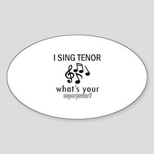 Cool Tenor Designs Sticker (Oval)