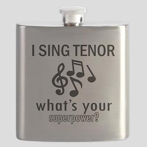 Cool Tenor Designs Flask