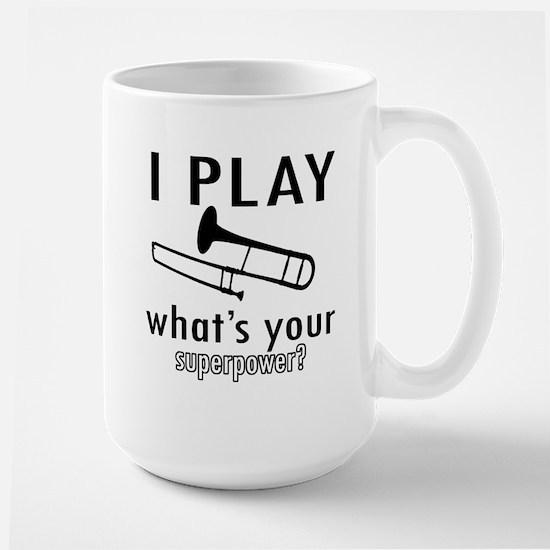 Cool Trombone Designs Large Mug
